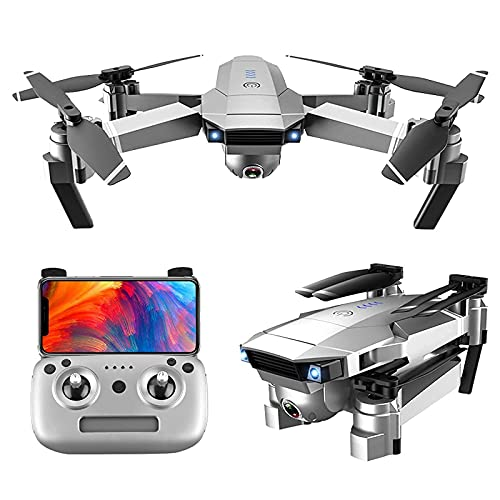 Drone Pieghevole Fotografia Aerea HD Professionale 4K Telecomando Quadricottero Modello di Lunga Durata Elicottero da Esterno, Gimbal Meccanico a Due Assi, Trasmissione di Immagini 5G HD 40MP