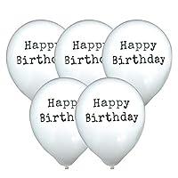 regalo メッセージバルーン (5枚入) バルーン 誕生日 飾り 風船 バースデー モノトーン (Aタイプ-HAPPY BIRTH DAY-タイプライター-ホワイト)