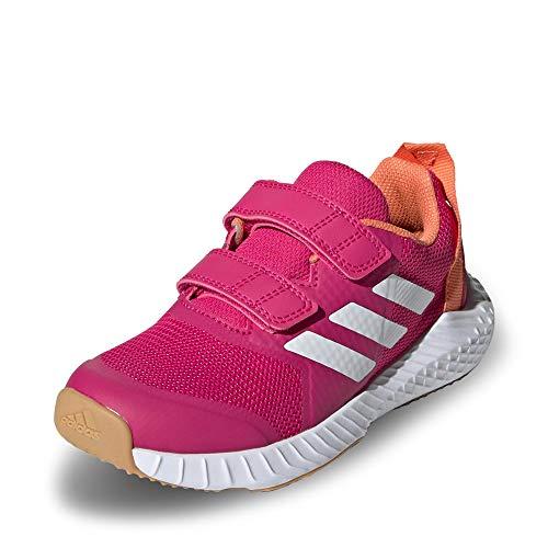 adidas Unisex-Child Fortagym Cf K Indoor Court Shoe, Real Magenta/Cloud White/Semi Coral, 32 EU