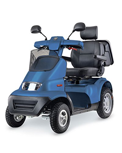 Best Deals! Afikim - Afiscooter S4 - Full Size Mobility Scooter - 4-Wheel - Blue