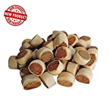 megazoo Biscotti per Cane 1 kg rollies Mini ripieni di Carne Adatti per Cani di Piccola Taglia, larg cm1,50 Altezza 1,00 Circa