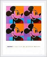 ポスター アンディ ウォーホル ミッキーマウス 1982 額装品 ウッドハイグレードフレーム(ホワイト)