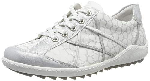 Remonte Damen R1411 Sneaker, Weiß (Ice/Reinweiss/Silber 80), 42 EU
