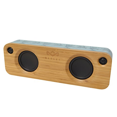 The House Of Marley Get Together Negro, Azul, Madera - Altavoces portátiles (2,54 cm, 8,89 cm, Inalámbrico y alámbrico, Negro, Azul, Madera, Rectángulo, Madera)