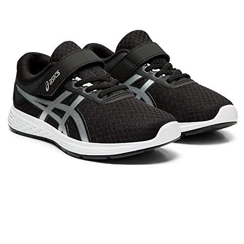 Asics Patriot 11 Ps Unisex Kids Running Shoes Black BlackSilver 002 12 Child UK 315 EU