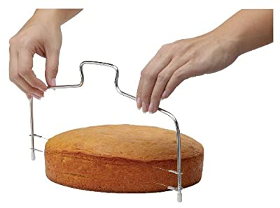Mrs. Anderson's Baking 43688 Adjustable 2-Wire Layer Cake Cutter and Leveler, Stainless Steel