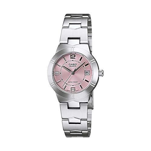 Casio Enticer Analog Pink Dial Women's Watch - LTP-1241D-4ADF (A873)