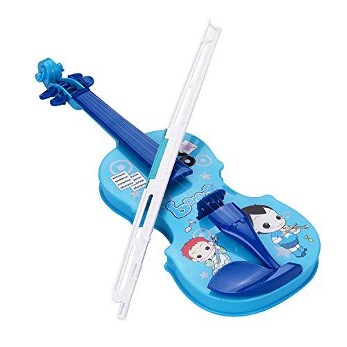 Kinder kleine Geige mit Geigenbogen Spaß pädagogische Musikinstrumente Elektronisches Geigenspielzeug für Kleinkinder Kinder Jungen und Mädchen Blau