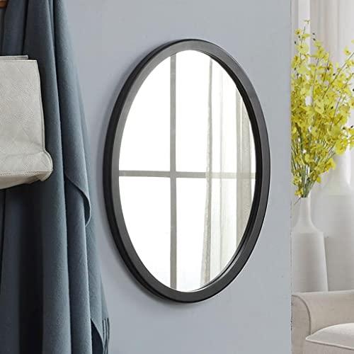 zcyg Espejo baño Espejos Pared Mirror Espejo De Pared, Espejo Elíptico Nórdico Montaje Montaje De Vanitía Montaje Espejo Espejo Simple Creative Decoración del Hogar(Size:58 * 43cm,Color:Negro)