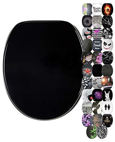 Abattant WC frein de chute soft close - Grande sélection de abattants wc noirs - Finition de haute qualité (Noir)