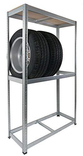 BURI Autoreifen-Steckregal Werkstatt-Regal Reifenlagerung Reifenregal Schuppenregal