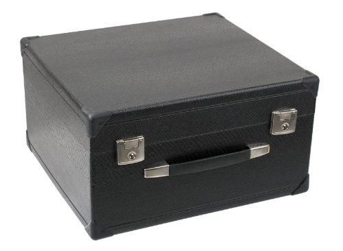 Alpenklang Koffer für 3-Reihige Harmonikas (Tragekoffer für 3-Reihige Harmonika, Holzkern, Kunstlederbezug)