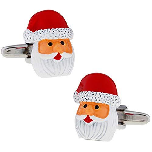 クリスマス サンタ サンタクロース フェイス カフス カフスボタン n02460