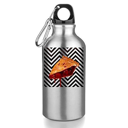 Nomorefamous Twin Peaks Pie Artwork Red Borraccia Alluminio Bottiglia Sportive Borracce per Scuola, Sport, Palestra, Yoga Tourist Water Bottle