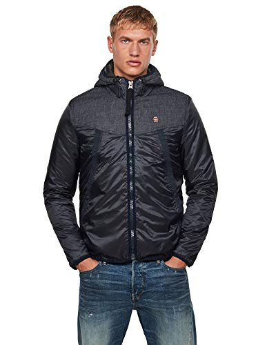 G-STAR RAW Mens Setscale pdd HDD JKT Jacket, Mazarine Blue C360-4213, X-Large