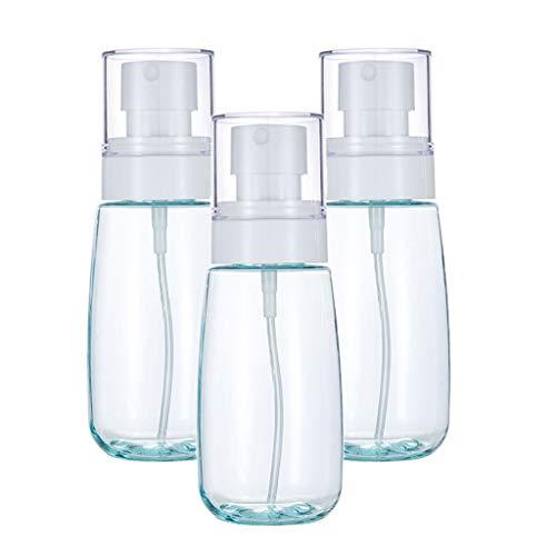 VANKOA 3pcs 80ml Atomiseur De Pulvérisateur De Parfum En Plastique étanche Pour L'eau Florale De Toilette - Bleu