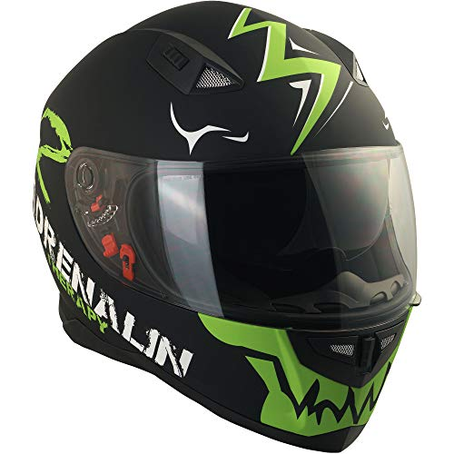 Broken Head Adrenalin Therapy II matt (M 57-58 cm) Motorradhelm – Helm grün – Integralhelm - 4