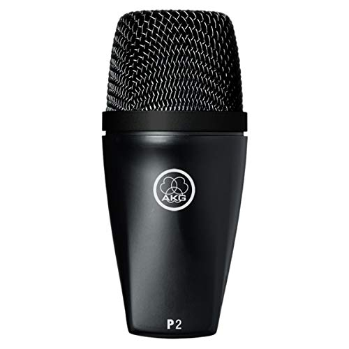 AKG P2 High-Performance Dynamic Bass Microphone,Black