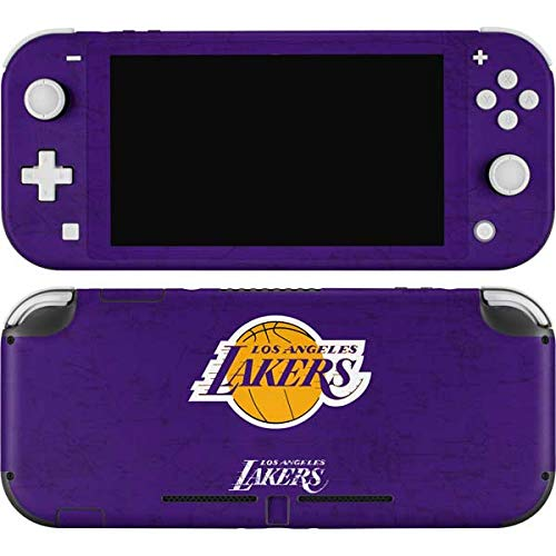 Skinit Decal Gaming Skin Compatible with Nintendo Switch Lite - Officially Licensed NBA Los Angeles Lakers Purple Primary Logo Design