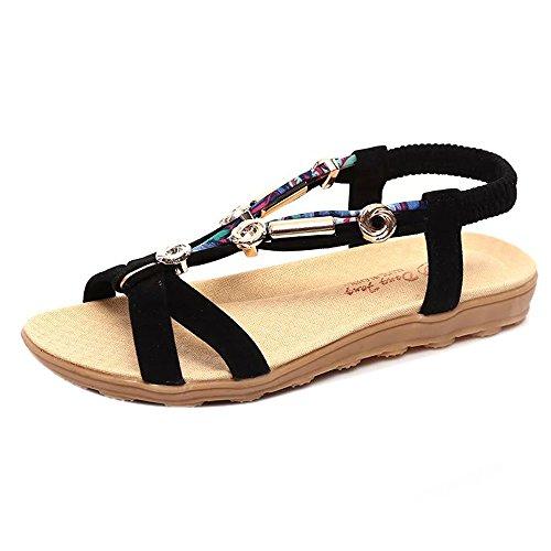 Sandalias de mujer Ronamick para verano, sandalias de pico bajo, sandalias romanas, sandalias para mujer