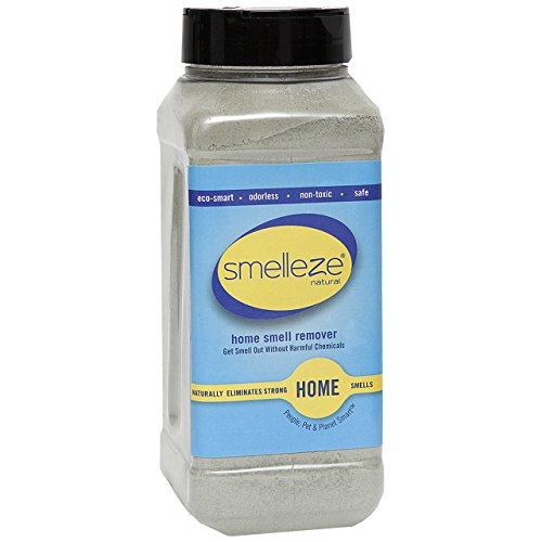 Review SMELLEZE Natural Room/House Odor Eliminator Deodorizer: 50 lb Granules Get House Smell Out Fa...