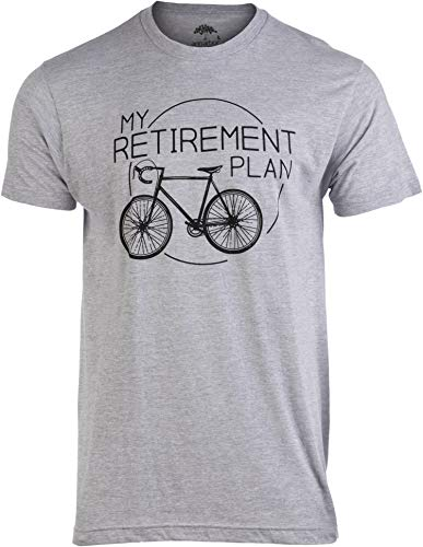 My Retirement Plan (Bicycle) | Funny Bike Riding Rider Retired Cyclist Man T-Shirt-(Adult,2XL) Heather Grey