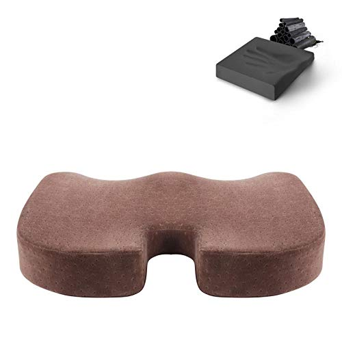 Cnoyz cushion seat Sitzkissen bürostuhl schöne hüftkissen verdickung Schwangere Frauen gedächtnis Baumwolle akne Arsch schüler klassenzimmer tiefen Kaffee (bambuskohle)