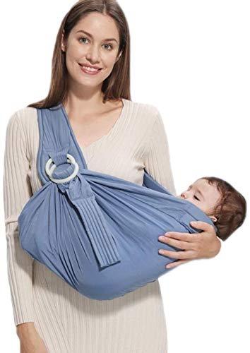 Porte-bébé HZYD -Baby, 5-en-1 Anneau Porteur, Postpartum Ceinture, Couverture d'allaitement, Léger bébé Wrap (Couleur: Rose) (Couleur: Vert) (Couleur: Gris), Couleur: Rose ( Color : Blue )