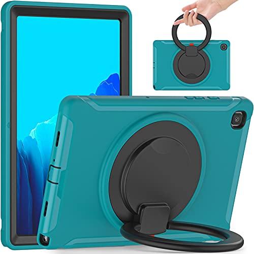 SZCINSEN Funda para Samsung Galaxy Tab A7 10.4' T500 - Mango giratorio a prueba de golpes con soporte para niños, resistente funda protectora para tablet (color: azul)