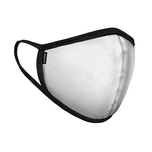 Yourban Mascarilla lavable y reutilizable para unisex (Certificada UNE0065:2020) Mediano Talla única Nieve blanca