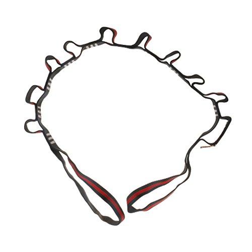 MagiDeal 180cm Starke und Robuste 22KN Bandschlinge, für Hängematte hängend, Yoga, Pilates, Klettern, Bergsteigen, Camping Schlinge