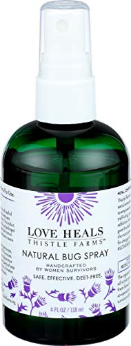 Thistle Farms Natural Deet-Free Bug Spray, Mosquito & Insect Spray with Organic Rose Geranium Essential Oils Made by Women Survivors