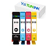 YATUNINK Remanufactured Ink Cartridge Replacement for HP 910 Black 910 Tri Color Ink Cartridge for HP OfficeJet 8035 OfficeJet 8028 OfficeJet 8025 OfficeJet 8022 8020 Printer (4Pack)