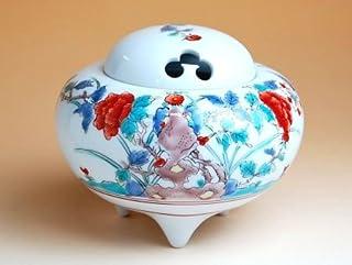 有田焼 錦牡丹 かぶ香炉(木箱付)【サイズ】高さ9.8cm
