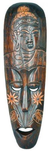 Woru Máscara Buddha 50 cm, Madera de máscara de Bali, Pared Máscara, decoración de Pared, Madera Máscara