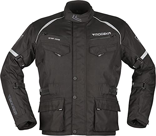 Modeka Tarex Motorrad Textiljacke Schwarz XXL