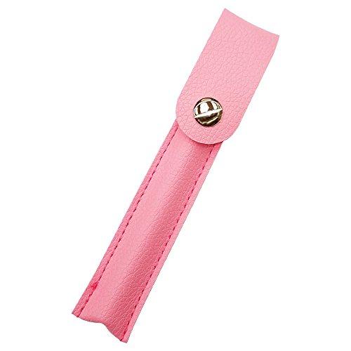 プルームテック ケース (ピンク) Ploom TECH ケース カバー PU レザー スリム コンパクト 合皮 シンプル 無地 電子タバコ 保護 収納 ポーチ ホルダー