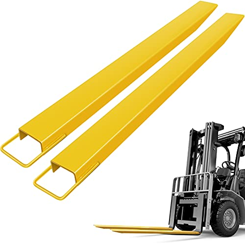 BestEquip 1 84inch Fork Extensions, Yellow