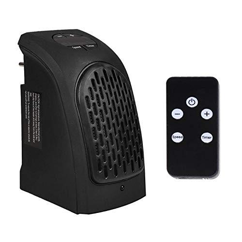 QIAOLI Eléctrico bajo Consumo 400W Mini Ventilador Calentador de Pared Calentador eléctrico con Control Remoto Dormir Calentador Cubierta 2 Modos Ajustable Calefactor Cerámico Portátil