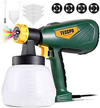 Teccpo 600W Paint Sprayer with 1300ml Detachable Container
