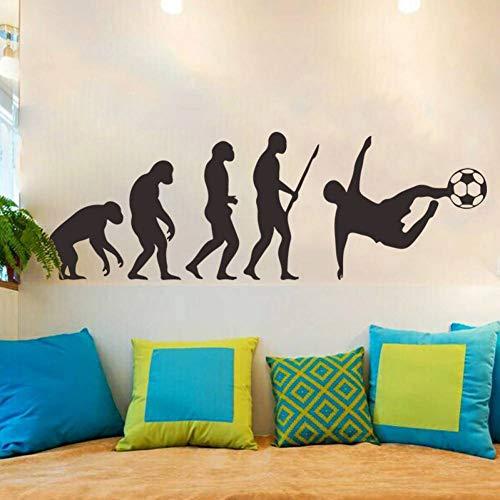 SJXWOL Stickers muraux Human Evolution Stickers Muraux Football PVC Vinyle Home Decor pour Chambre d'enfants Primitive Aux Personnes Moderne Stickers Muraux