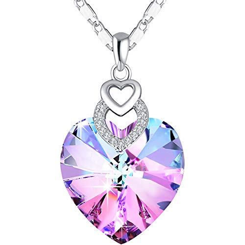 pink crystal necklace - 2