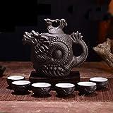 QCCOKNN Kung Fu - Tetera de cerámica para té