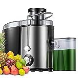 Licuadoras Para Verduras y Frutas, Amplio Conducto de Alimentación Boca Ancha, Extractor de Jugos Libre de BPA, Exprimidor...