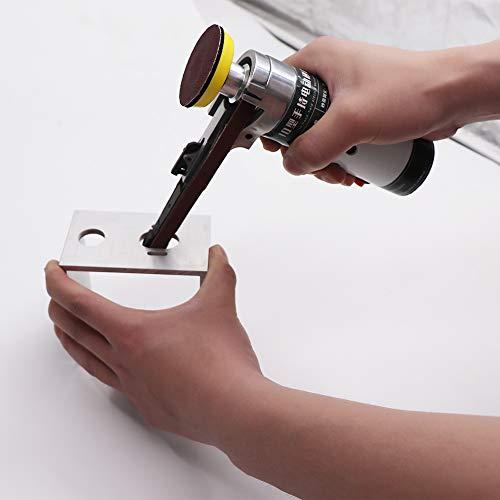 ROEAM Elektrische Bandschleifmaschine,Mini-Bandschleifmaschine Elektrische Schleifmaschine Kleine Schleifmaschine Elektrische Bandschleifmaschine mit Schleifbändern 100W