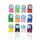 HGNFD Among Us Figure Toys.12 unids/Set Anime Mini Modelos de cartón Figuras de Juguete de acción Juego DIY decoración cápsula muñecas Caja ciega Mini estatuas