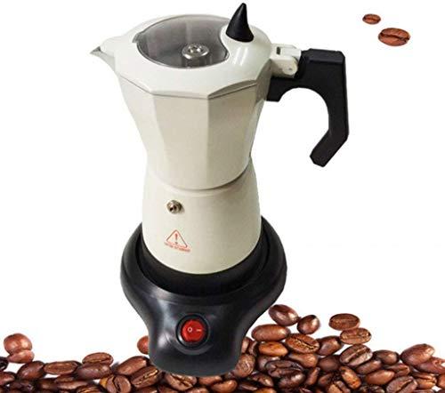 Busirsiz Diseño Transparente portátil cafetera eléctrica de la máquina de Acero Inoxidable Espresso Mocha Cafetera for Las Herramientas de la Cocina del hogar 100 ml / 500 ml fáciles de observar