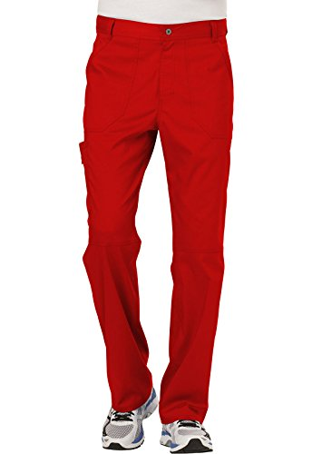 Cherokee Men's Fly Front Pant, Red, XXX-L