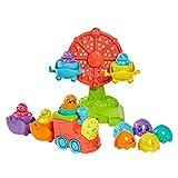 TOMY Toomies Juguete de bebé Hide and Squeak 2 en 1 con Forma educativa con Colores y Sonido, Juguete para bebés, Juguete para bebés y niñas de 1, 2 y 3 años