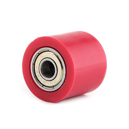 Qiilu Deslizador de rodillo de polea de cadena, 8 mm/10 mm Deslizador de rodillo de polea de cadena Guía de rueda tensora para bicicleta de calle Motocicleta ATV(Rojo10mm)
